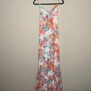 Lulus floral spaghetti strap maxi dress